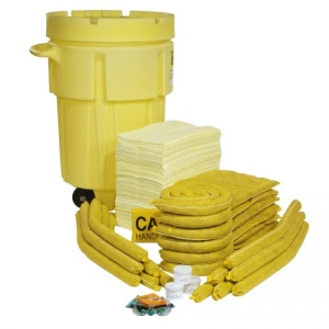 HazMat 95-Gallon Wheeled OverPack Salvage Drum Spill Kit