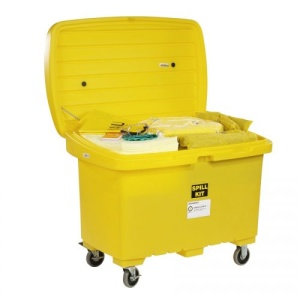 HazMat Spill Cart Kit with 5in Wheels