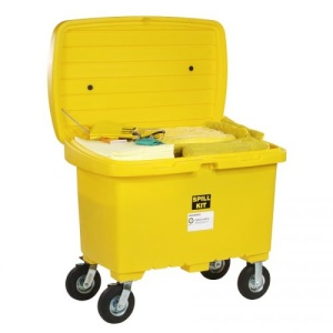 HazMat Spill Cart Kit with 8in Wheels